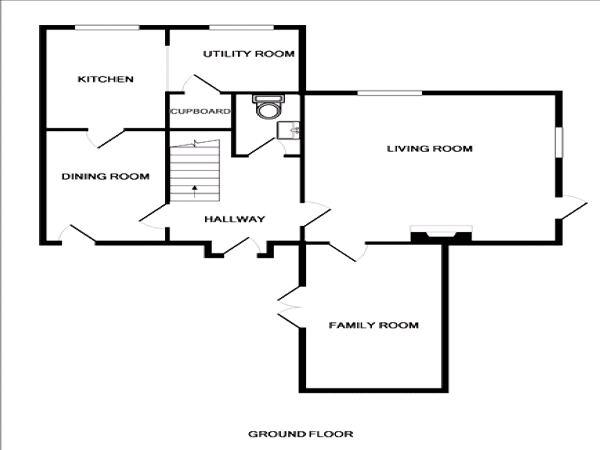 Floorplan for the property 3 bed House for sale in Chase Side, London, N14 - 1