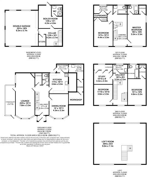 Floorplan for the property 3 bed House to rent in Hawthorne Avenue, Scunthorpe, DN17 - 1