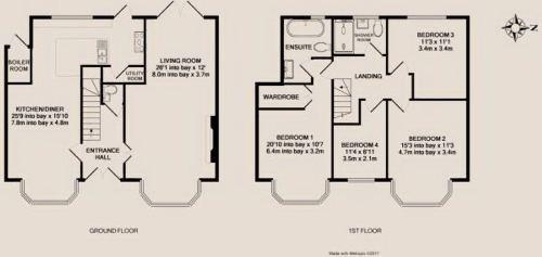 Floorplan for the property 5 bed House for sale in Underhill, Barnet, EN5 - 1