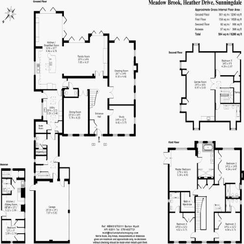 Floorplan for the property 3 bed House for sale in Firs Lane, London, N21 - 1