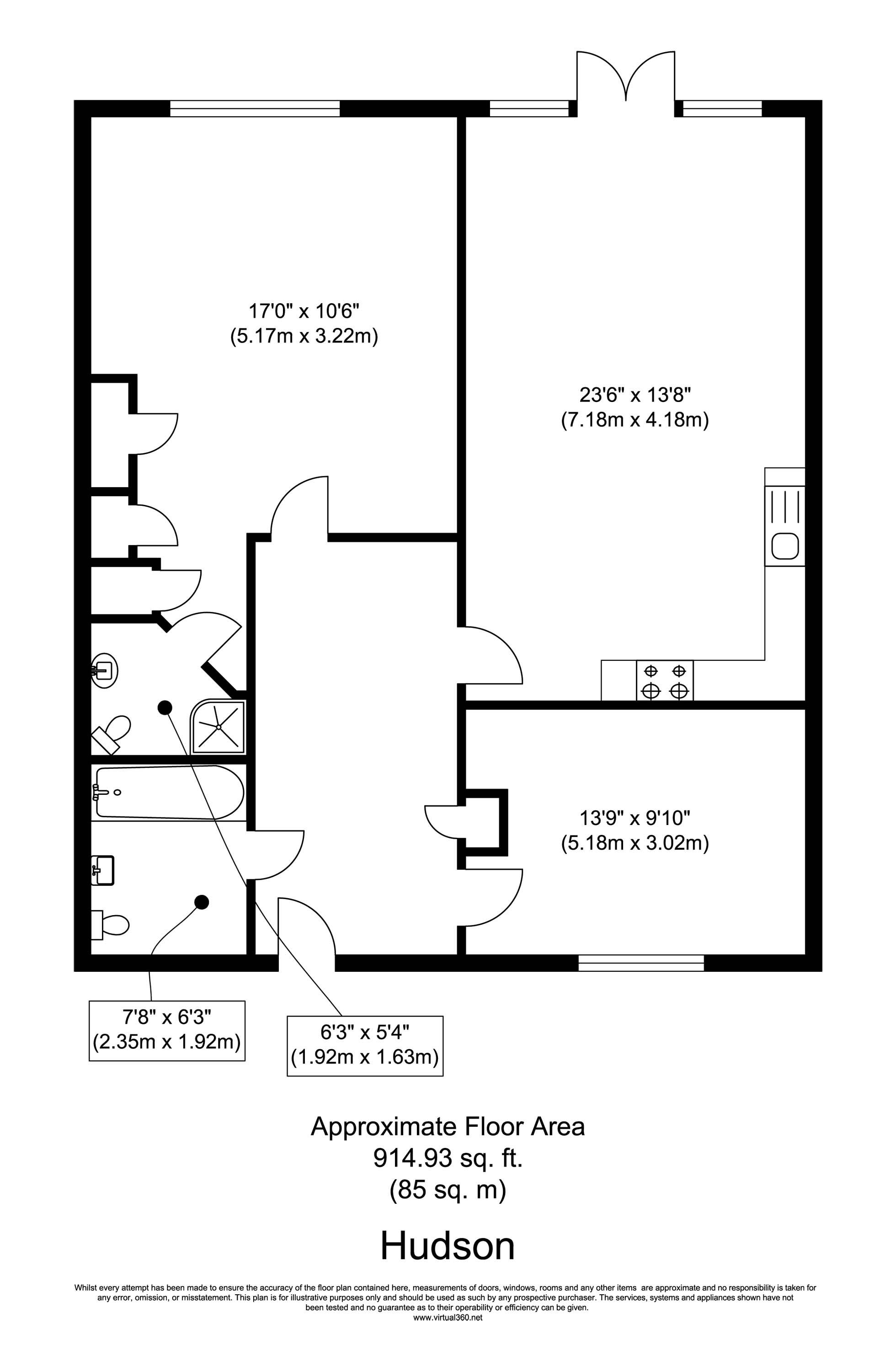 Floorplan for the property 2 bed Apartment for sale in Chicksand Street, E1 - 1