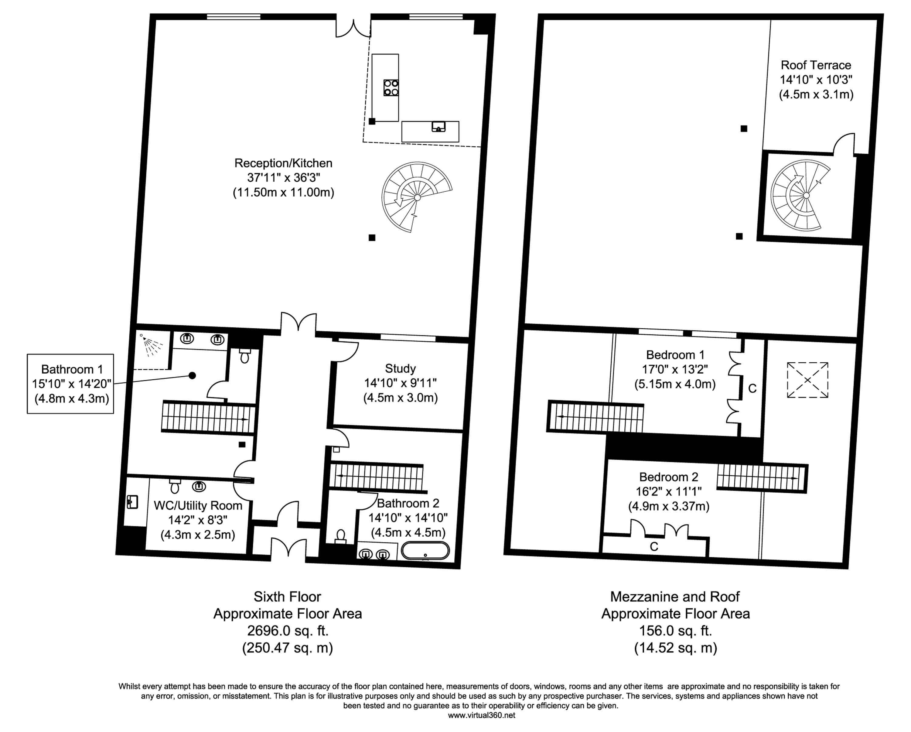 Floorplan for the property 2 bed Apartment to rent in Metropolitan Wharf - 1