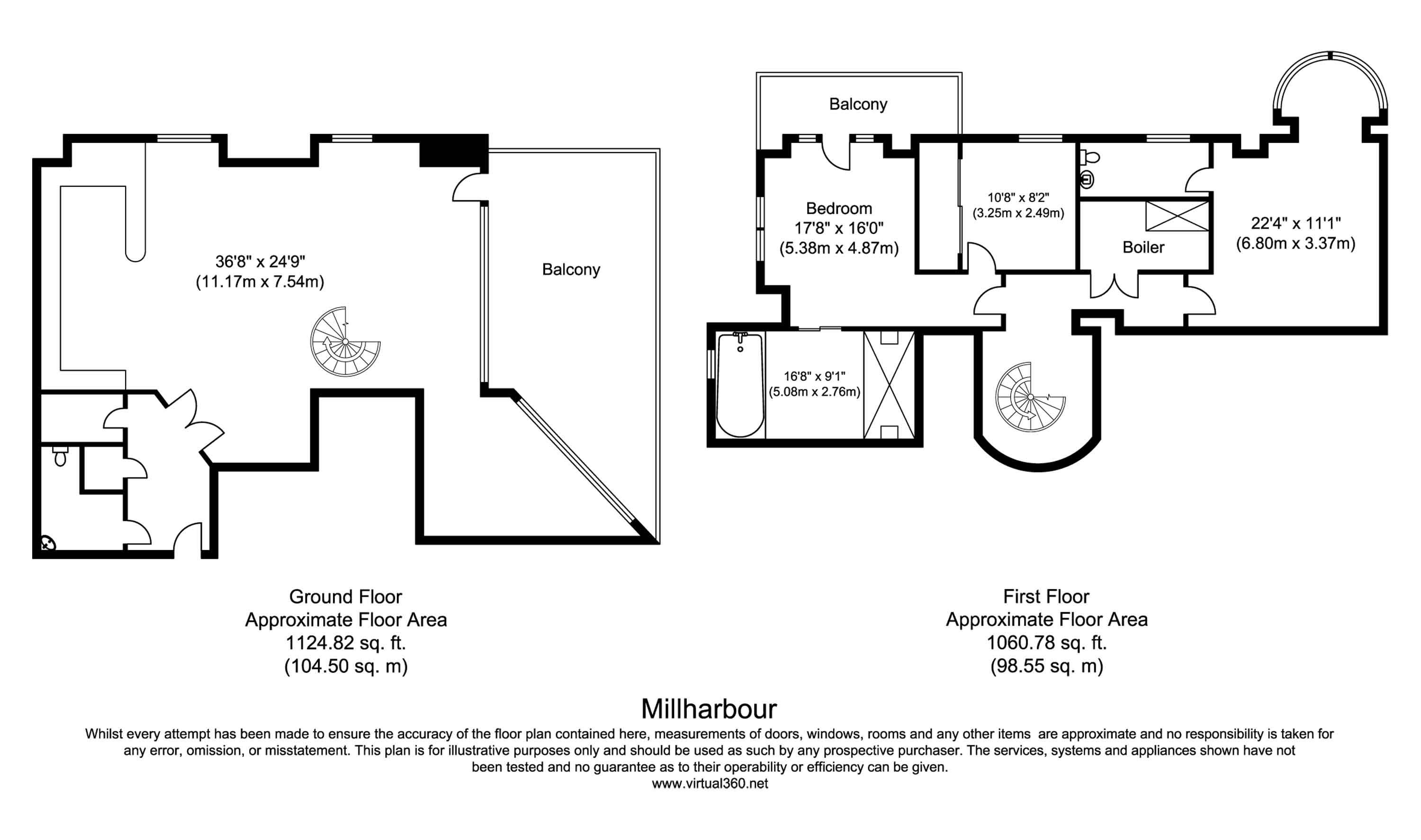 Floorplan for the property 2 bed Apartment to rent in 41 Millharbour, E14 - 1