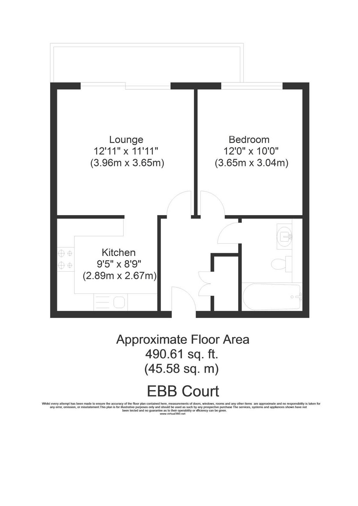 Floorplan for the property 1 bed Apartment for sale in Albert Basin Way, E16 - 1