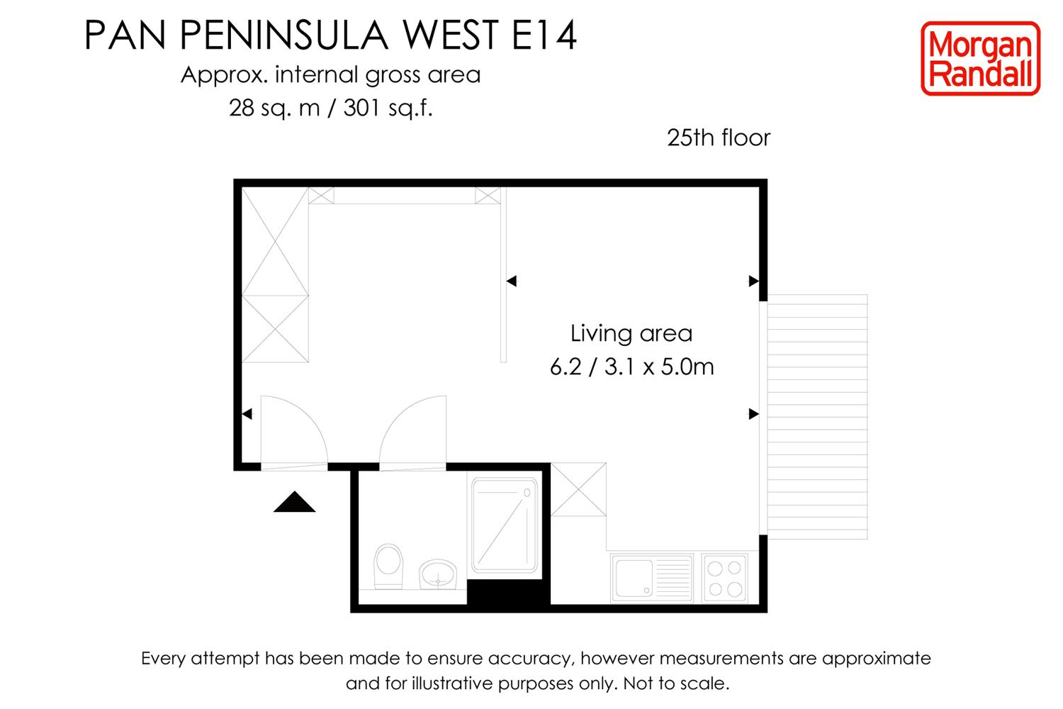 Floorplan for the property Apartment to rent in Pan Peninsula, E14 - 1