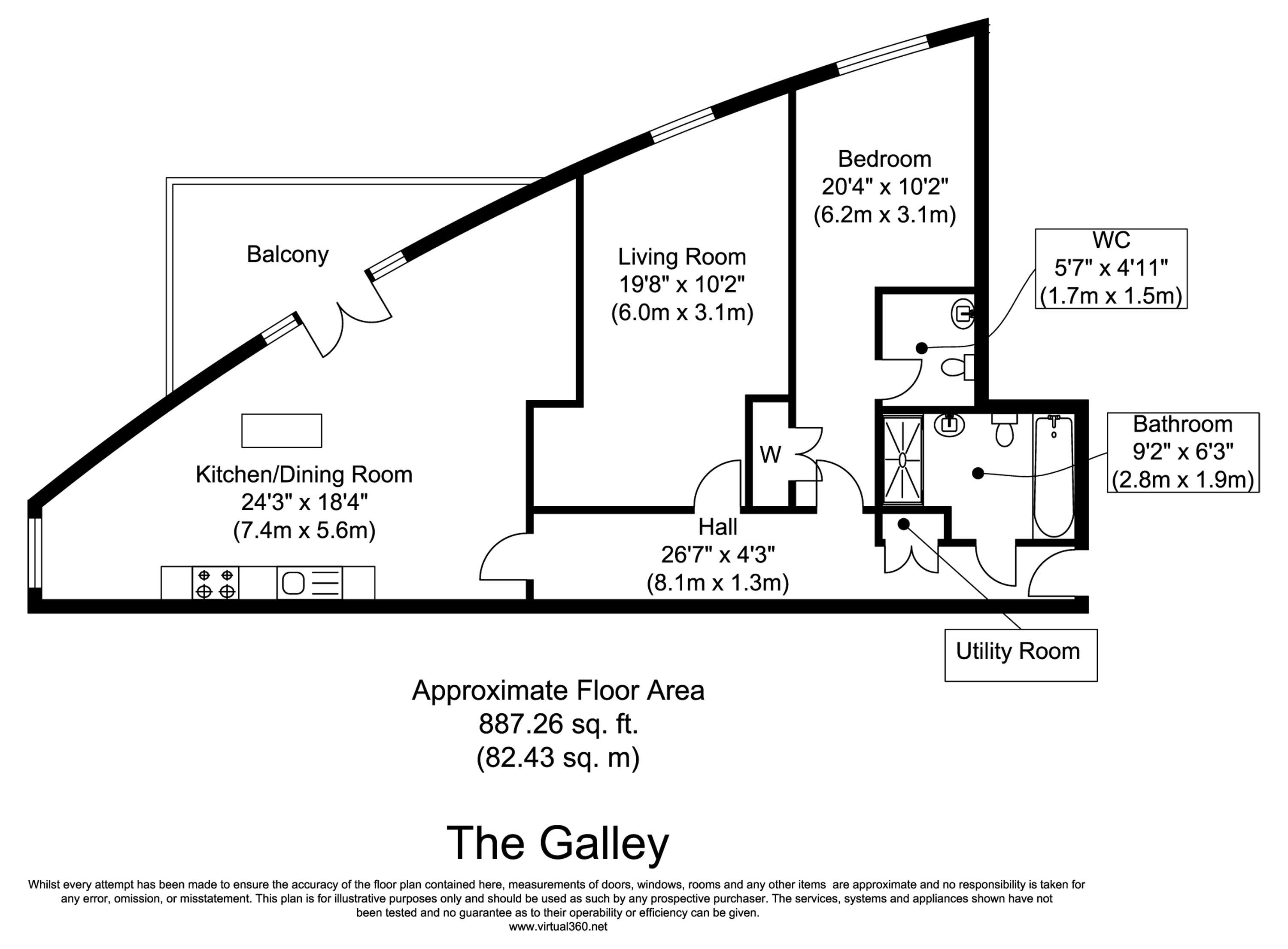 Floorplan for the property 2 bed Apartment to rent in The Galley, E16 - 1