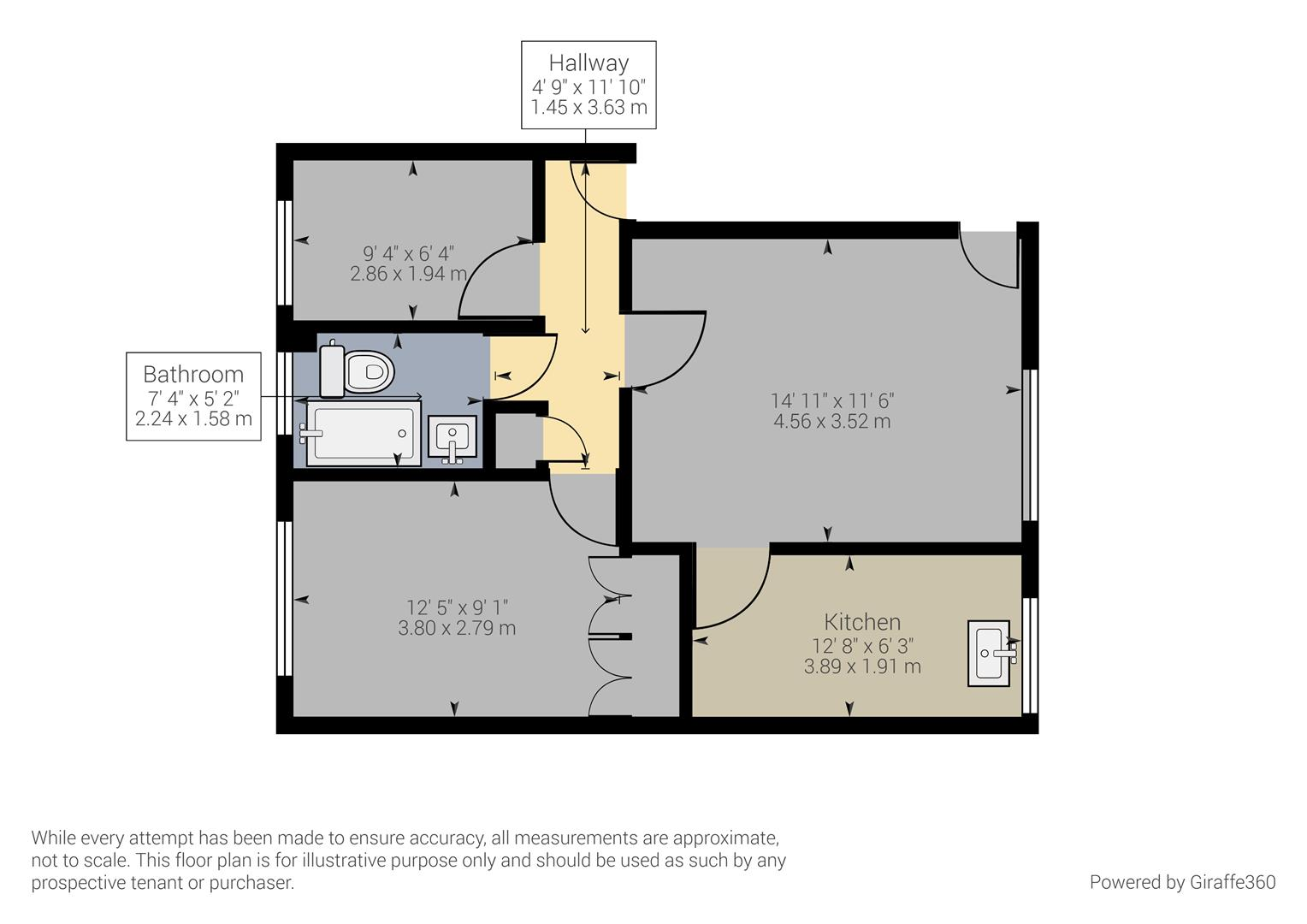 2 bed flat for sale in Emerald Court, 960A Alum Rock Road, Birmingham - Property Floorplan
