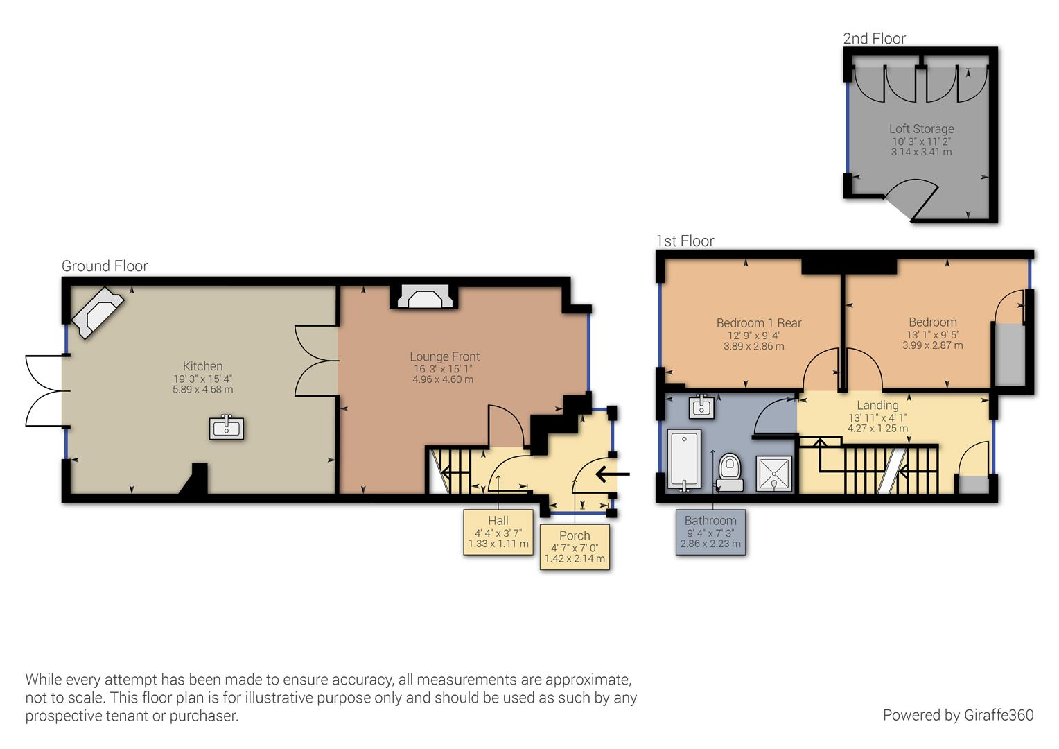 2 bed house for sale in Northleigh Road, Birmingham - Property Floorplan