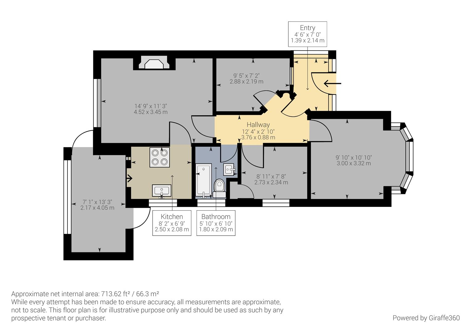 3 bed bungalow for sale in Ashville Avenue, Castle Bromwich, Birmingham - Property Floorplan