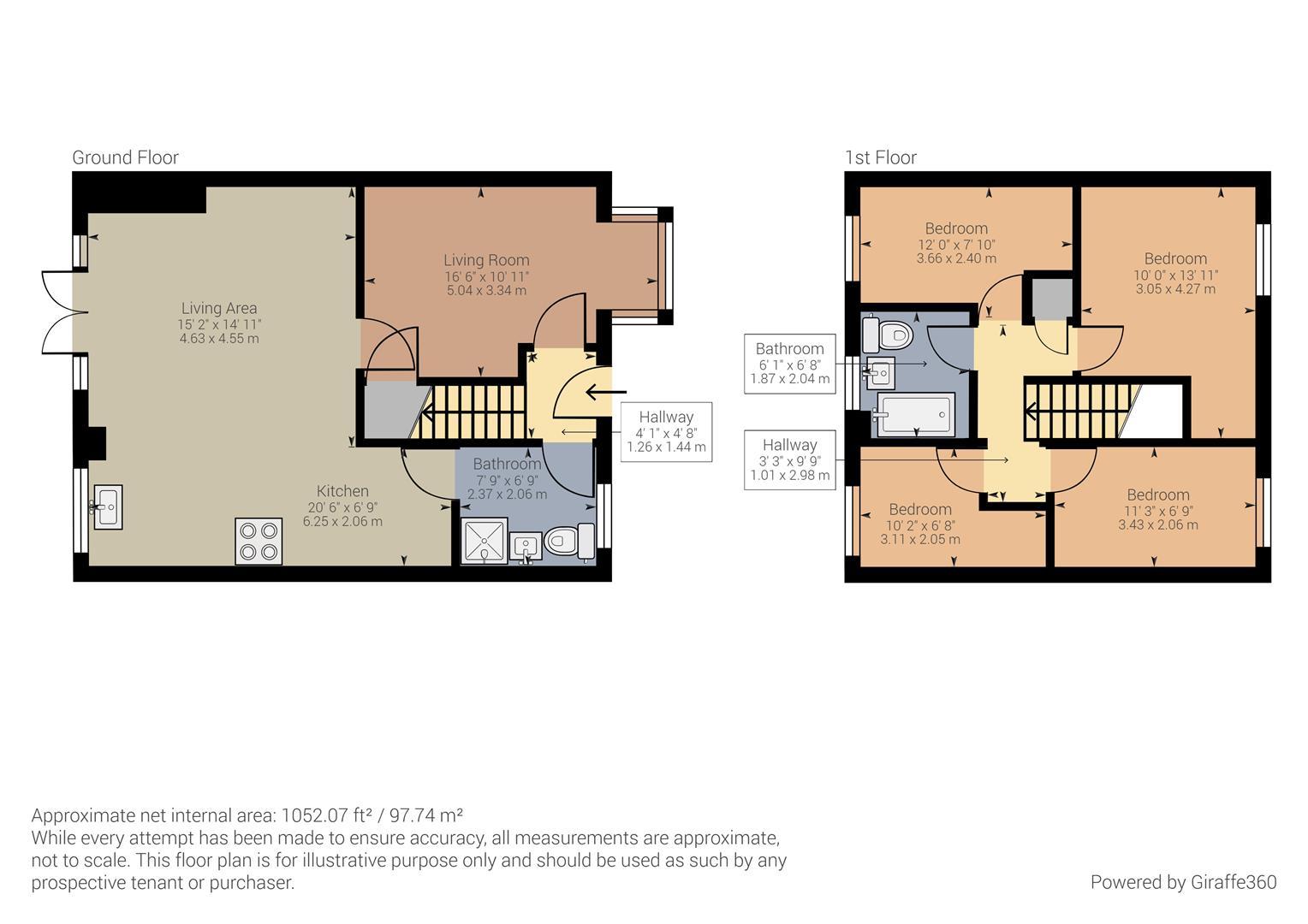 4 bed house for sale in Duddeston Drive, Birmingham - Property Floorplan