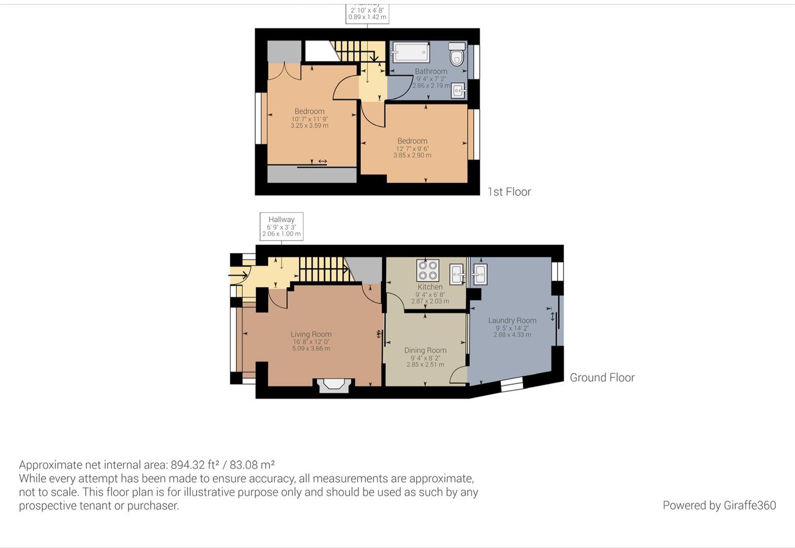 2 bed house for sale in Yardley Green Road, Stechford, Birmingham - Property Floorplan