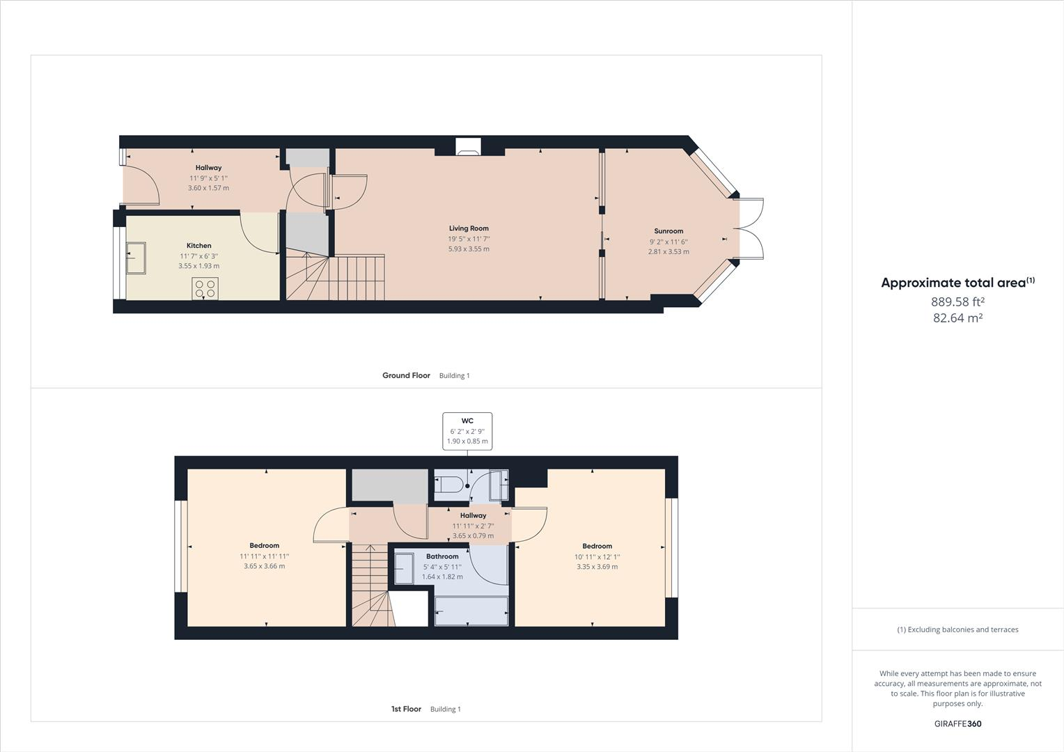 2 bed house for sale in Oxford Close, Ward End, Birmingham - Property Floorplan