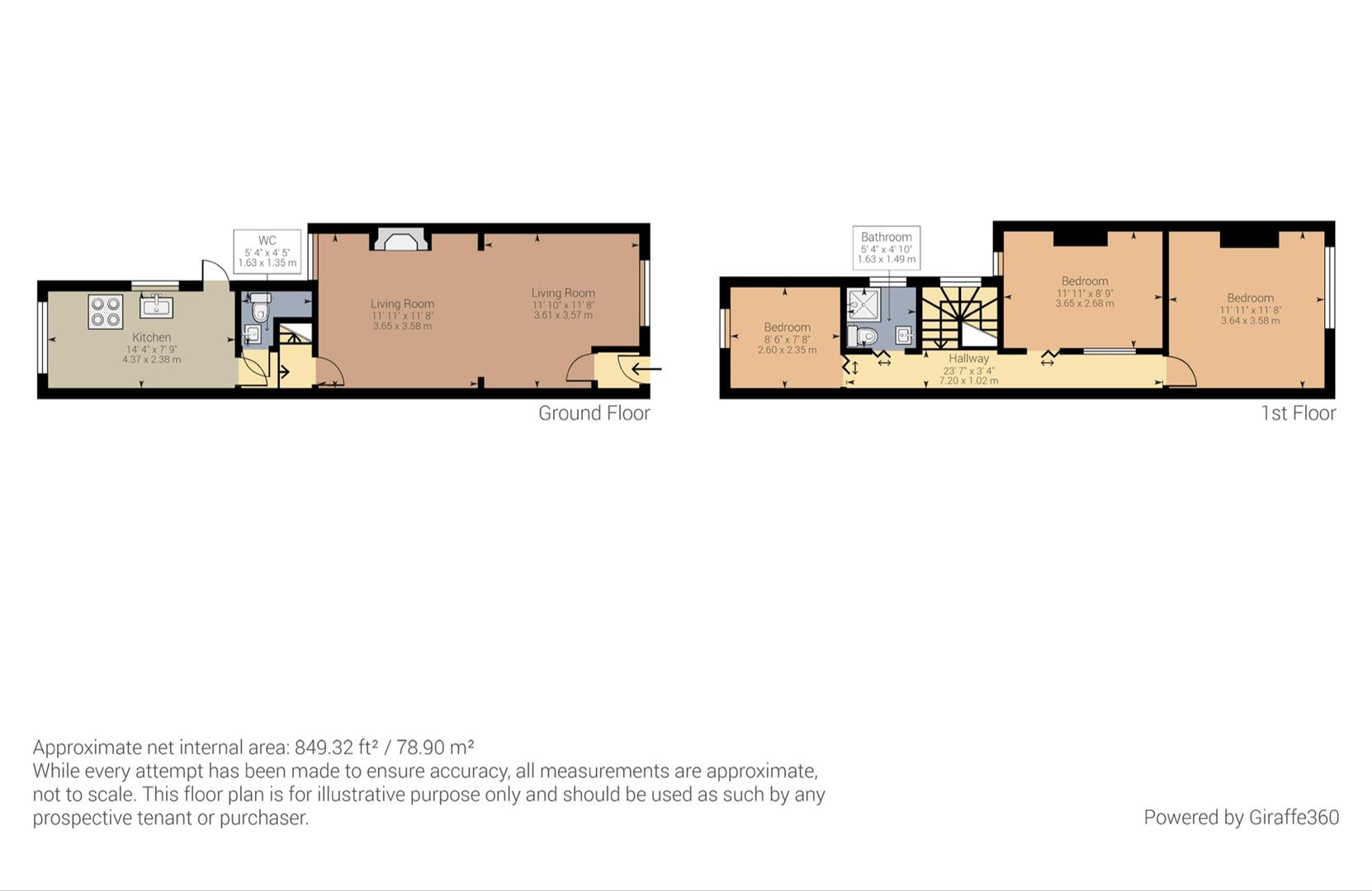 3 bed house for sale in William Cook Road, Ward End, BIRMINGHAM - Property Floorplan