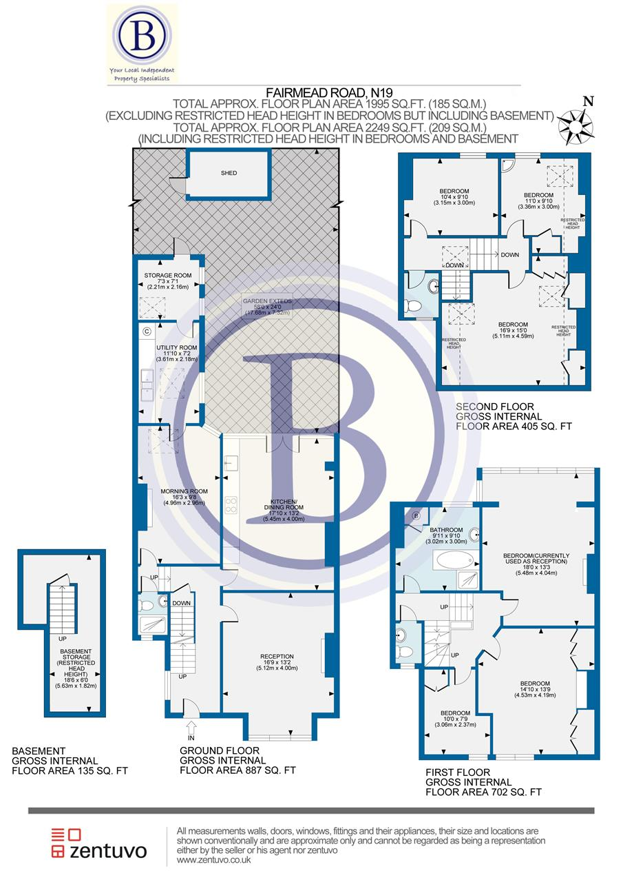 6 bed house for sale in Fairmead Road, London - Property Floorplan