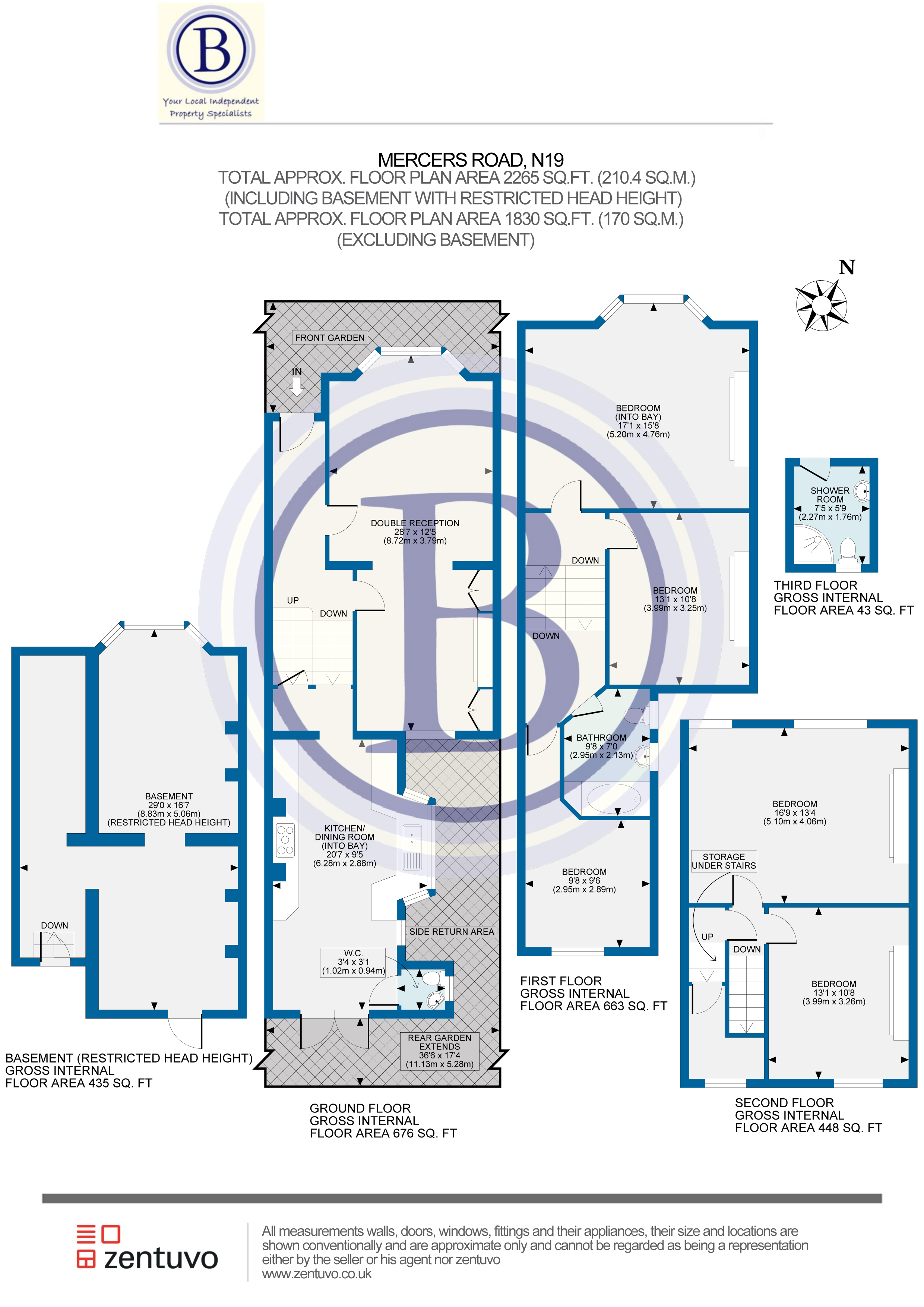 5 bed house for sale in Mercers Road, London - Property Floorplan