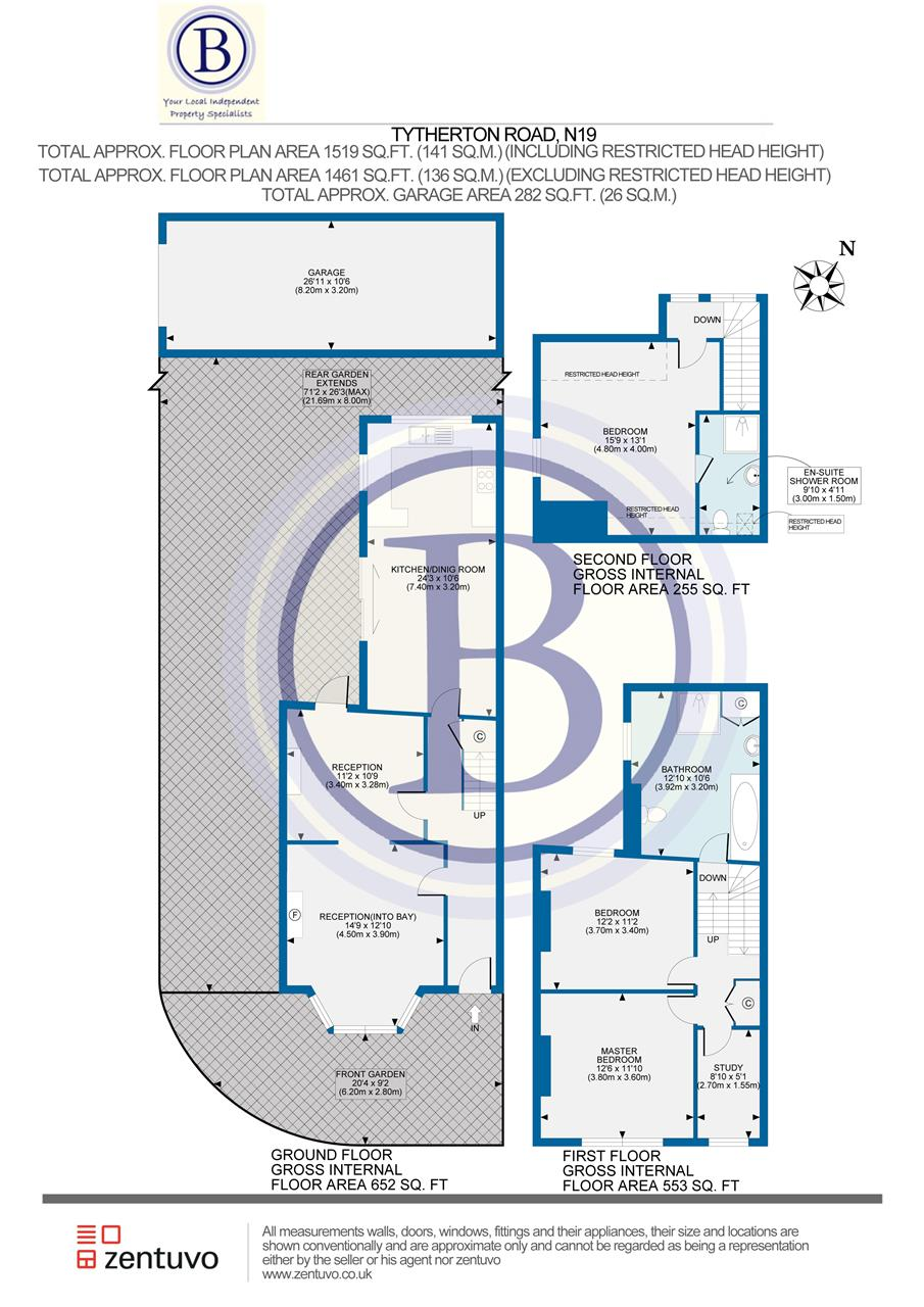 3 bed house for sale in Tytherton Road, London - Property Floorplan