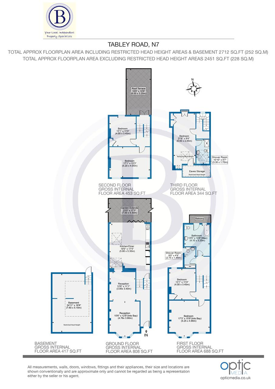 5 bed house for sale in Tabley Road, London - Property Floorplan