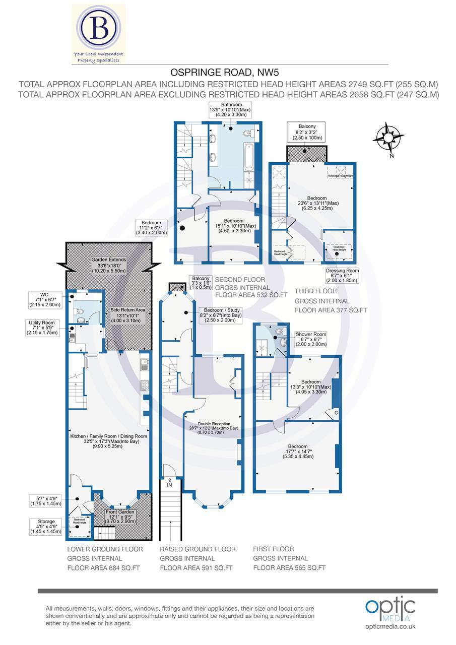 5 bed house for sale in Ospringe Road, London - Property Floorplan
