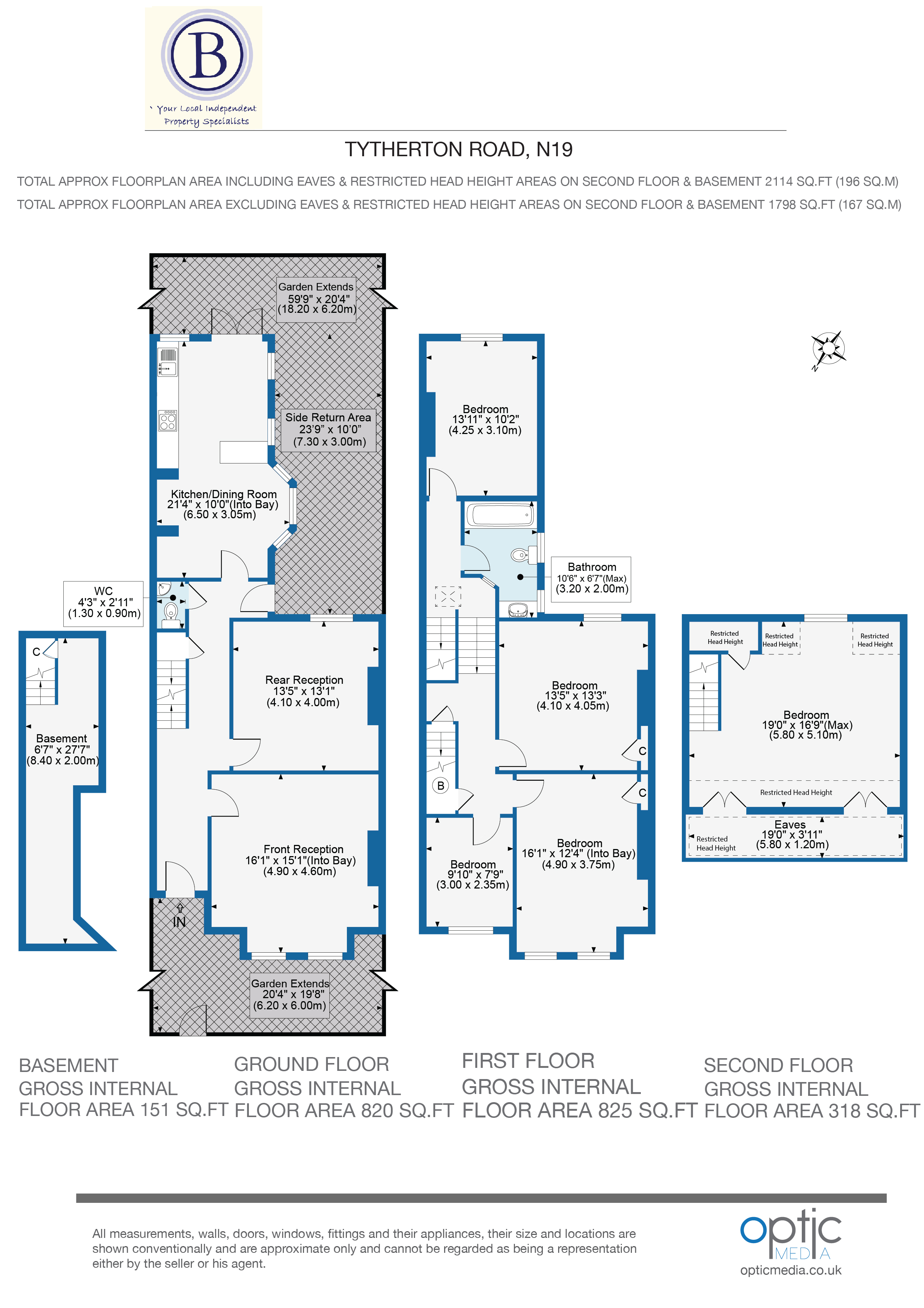 5 bed house for sale in Tytherton Road, London - Property Floorplan