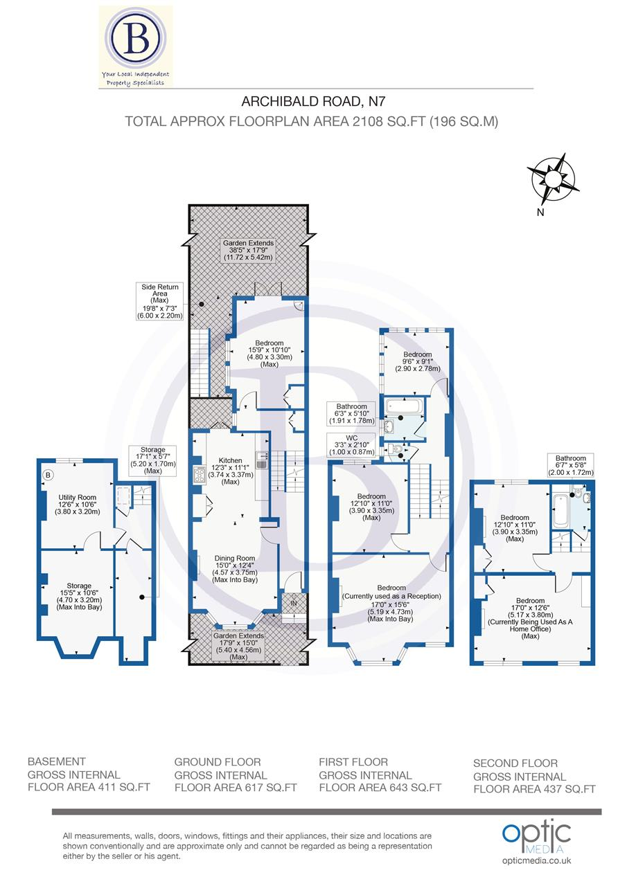 5 bed end-of-terrace for sale in Archibald Road, London - Property Floorplan