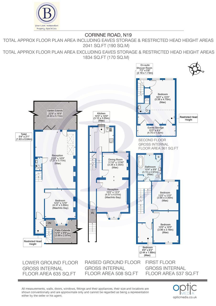 4 bed  for sale in Corinne Road, London - Property Floorplan