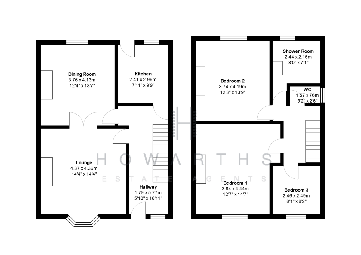 3 bed House for sale on Greensnook Lane, Bacup - Property Floorplan