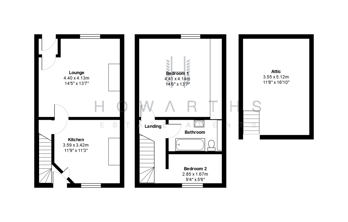 3 bed House to rent on Gordon Street, Bacup - Property Floorplan