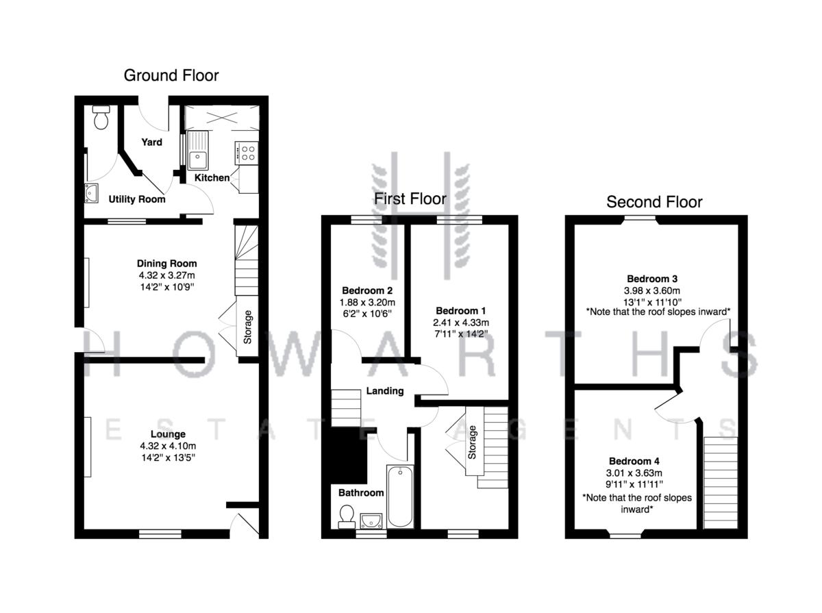 4 bed House to rent on Inkerman Street, Bacup - Property Floorplan