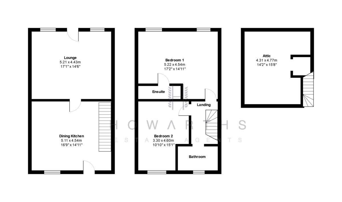3 bed House for sale on 309 Burnley Road East - Property Floorplan