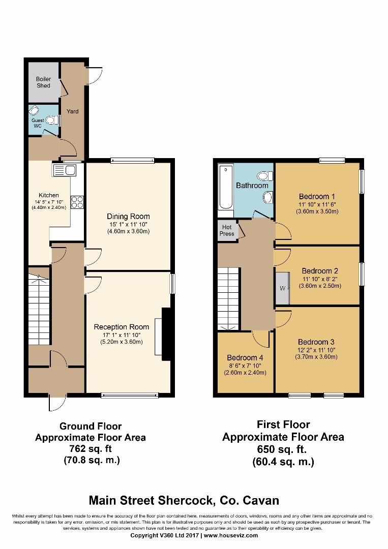 4 bed House for sale on Main Street, Shercock, Co. Cavan - Property Floorplan