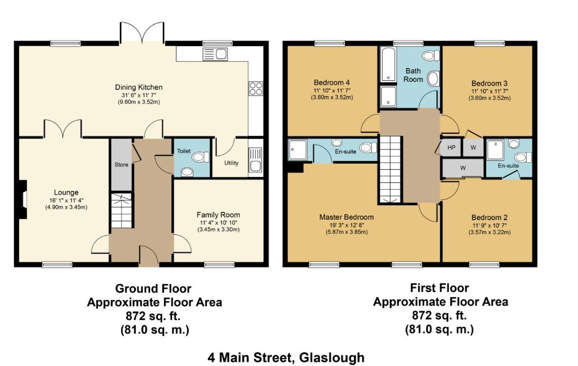 4 bed Terraced for sale on 'Mr. Nesbitt's Gardener', No.4 Main Street, Glaslough, Co. Monaghan - Property Floorplan