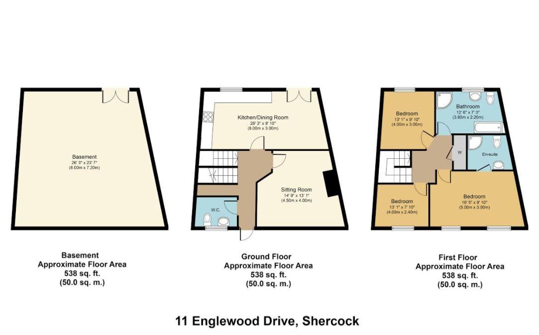 3 bed Terraced for sale on No.11 Englewood Drive, Shercock, Co. Cavan - Property Floorplan