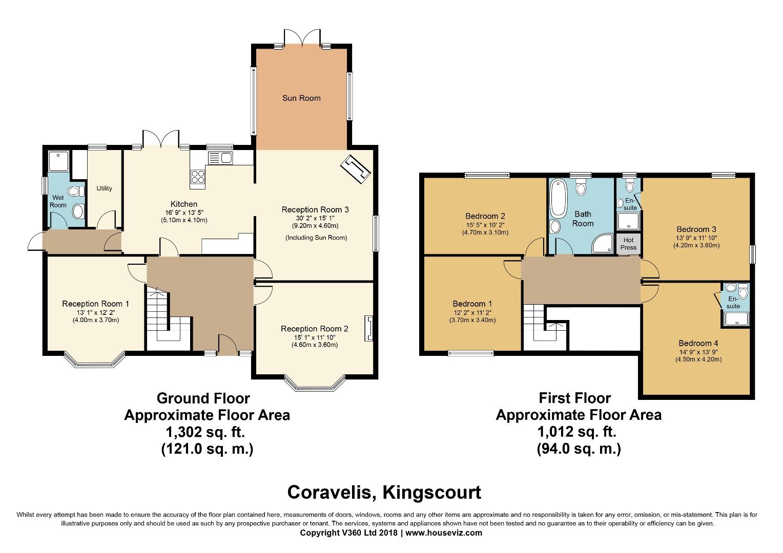 4 bed House for sale on Coravelis, Bailieborough, Co. Cavan - Property Floorplan