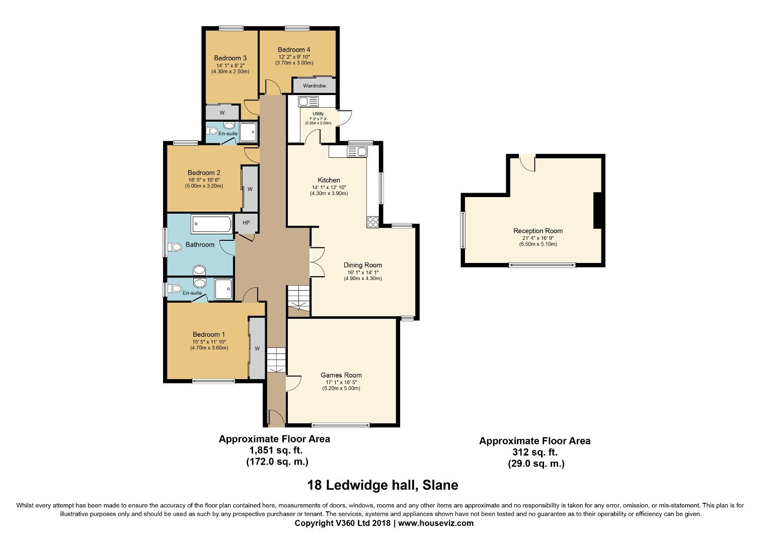 4 bed House for sale on 18 Ledwidge Hall, Slane, Co. Meath - Property Floorplan
