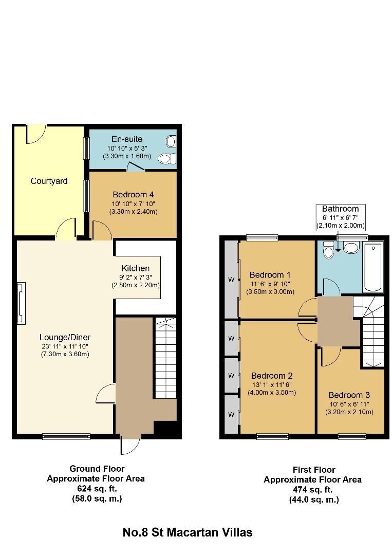 4 bed Terraced for sale on No.8 St Macartan Villas, Carrickmacross, Co. Monaghan - Property Floorplan