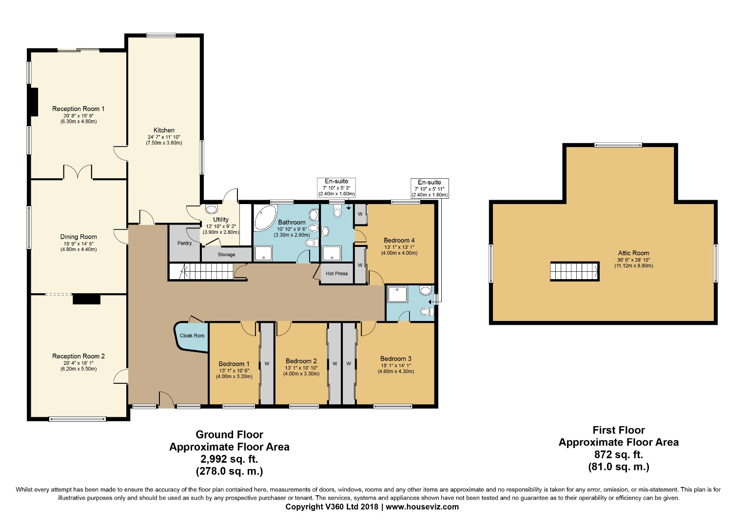 4 bed House for sale on Marahill, Kingscourt, Co. Cavan - Property Floorplan