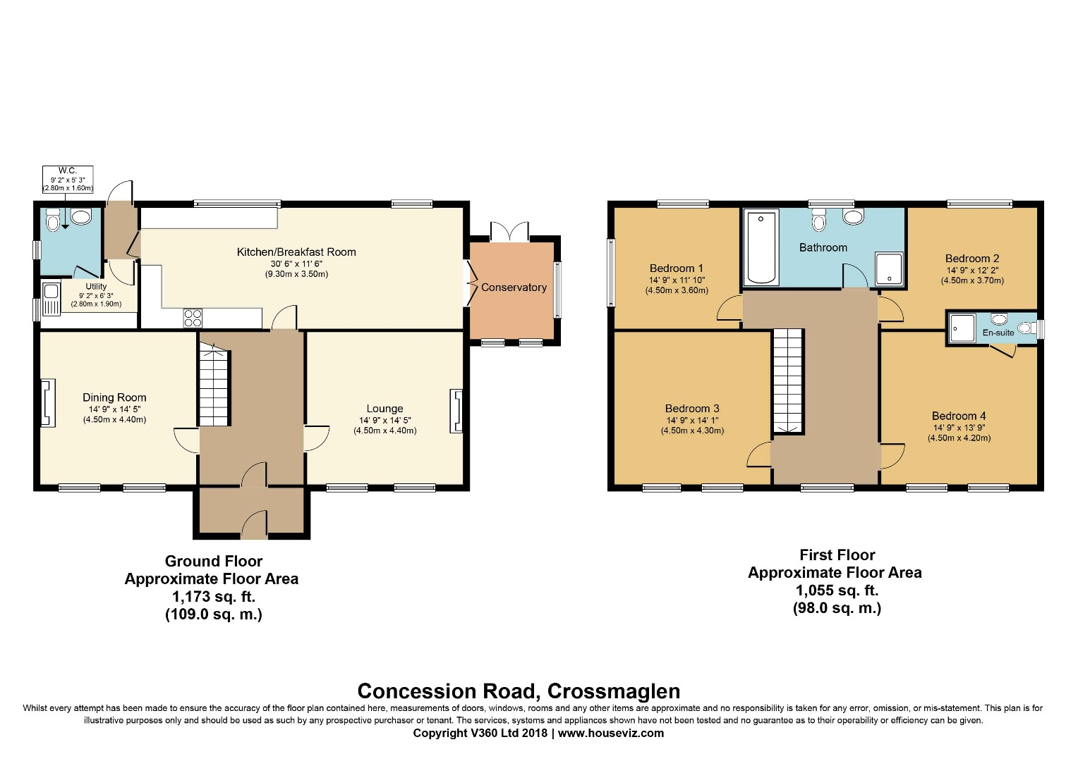 4 bed House for sale on Concession Road, Crossmaglen, Newry, Co. Down - Property Floorplan