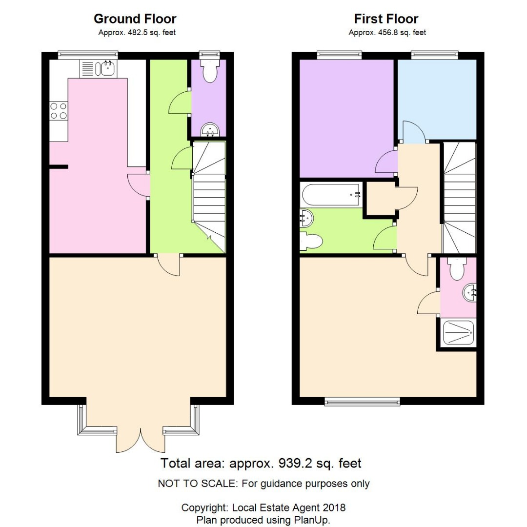 3 bed House for sale on Anderson Close, Loves Farm, St Neots - Property Floorplan