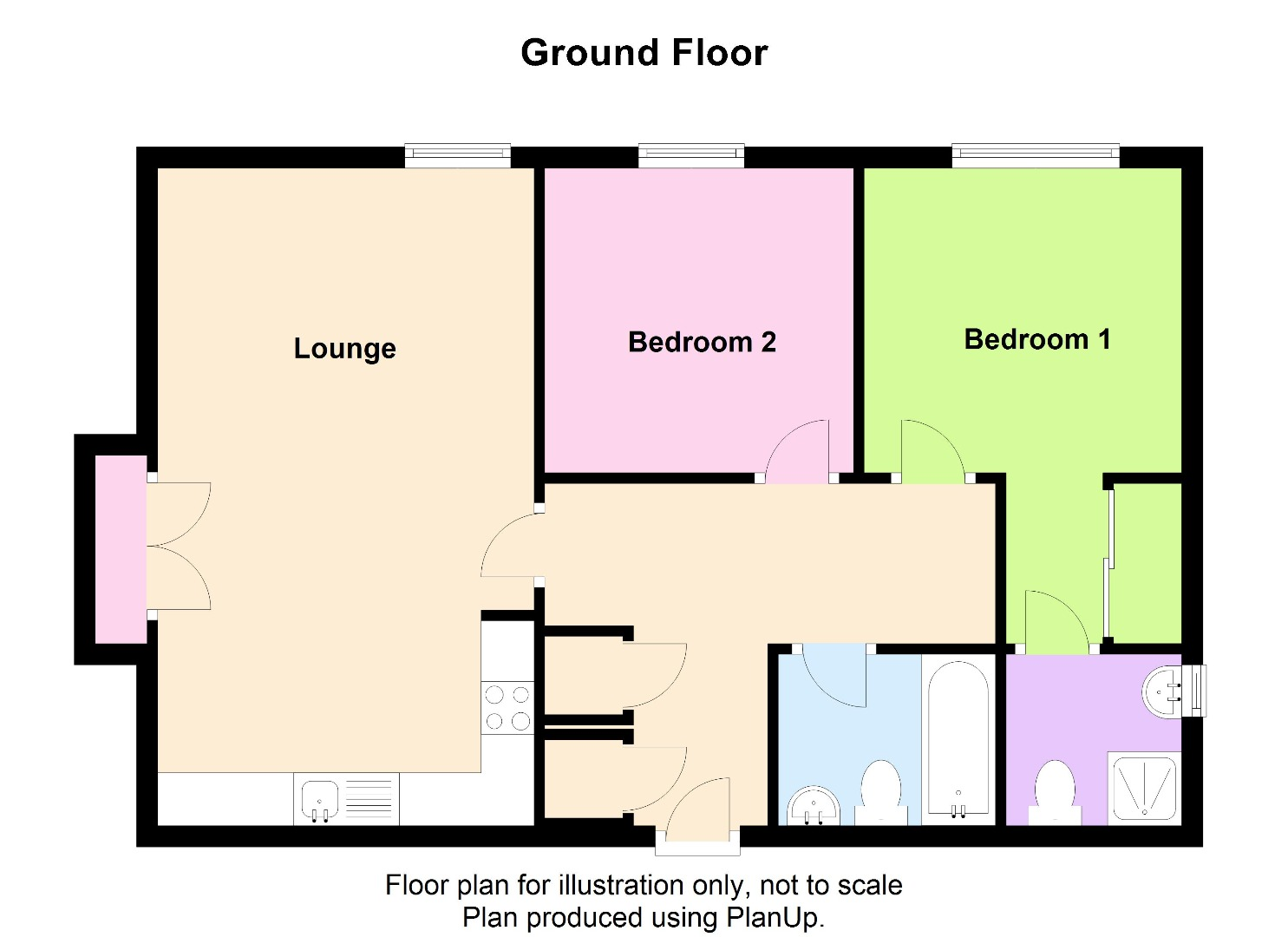 2 bed Flat for sale on Linton Close, Eaton Socon - Property Floorplan