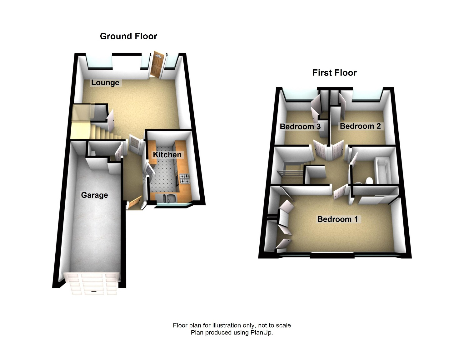 3 bed House for sale on Altwood, Harpenden - Property Floorplan