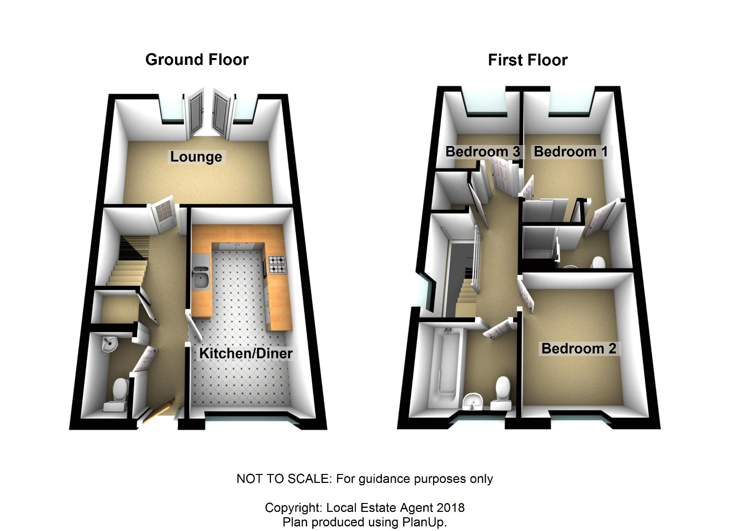 3 bed House for sale on Radland Close, St Neots - Property Floorplan