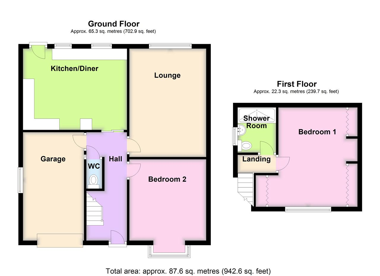 2 bed bungalow for sale in Lancaster Close, Adlington - Property Floorplan