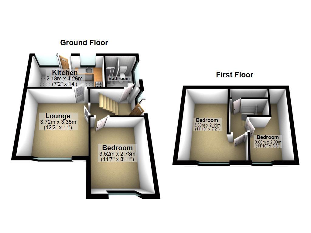 3 bed bungalow for sale in Ollerton Street, Adlington - Property Floorplan