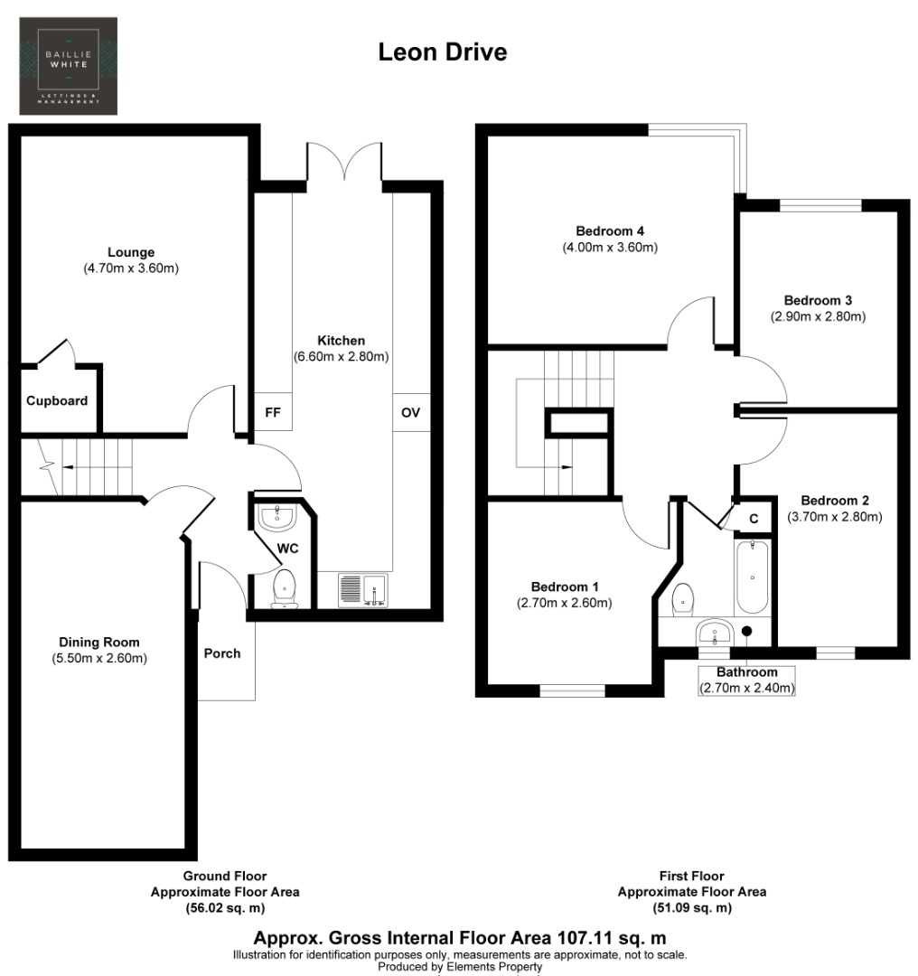 4 bed house to rent in Leon Drive, Vange - Property Floorplan