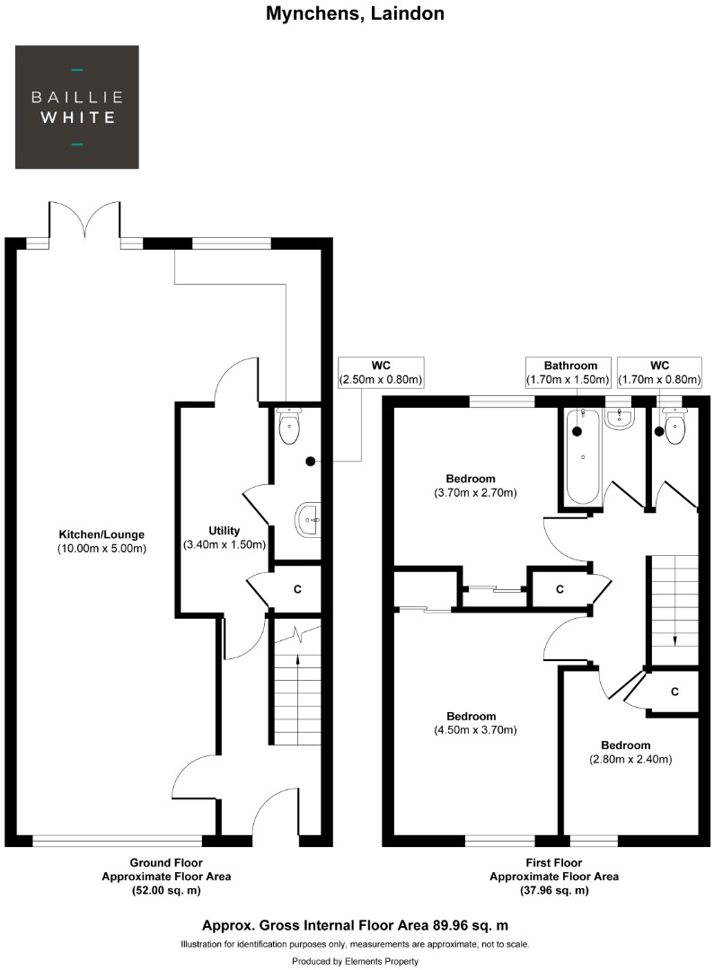 3 bed house to rent in Mynchens, Laindon - Property Floorplan