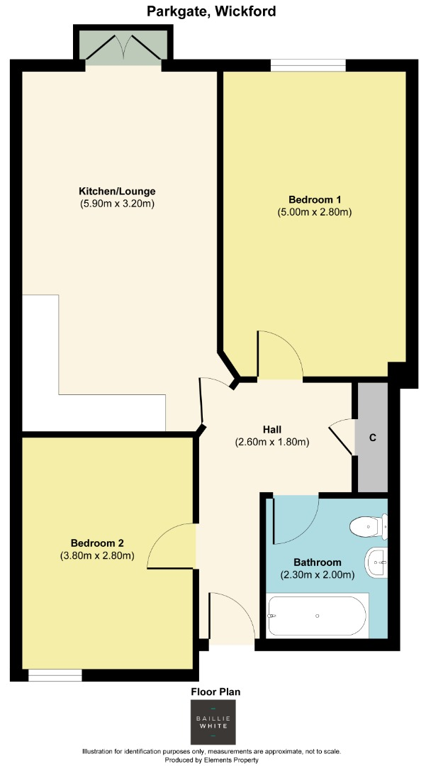 2 bed apartment to rent in Franklins Way - Property Floorplan