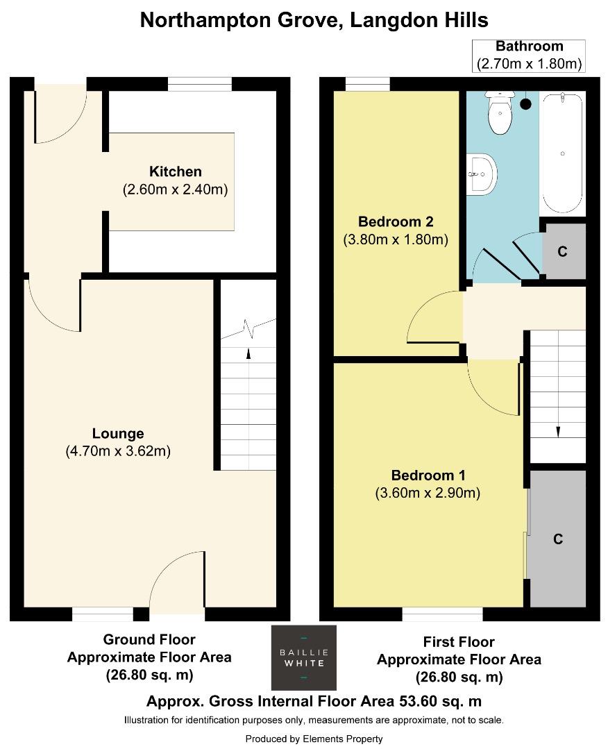 2 bed house to rent in Northampton Grove, Langdon Hills - Property Floorplan