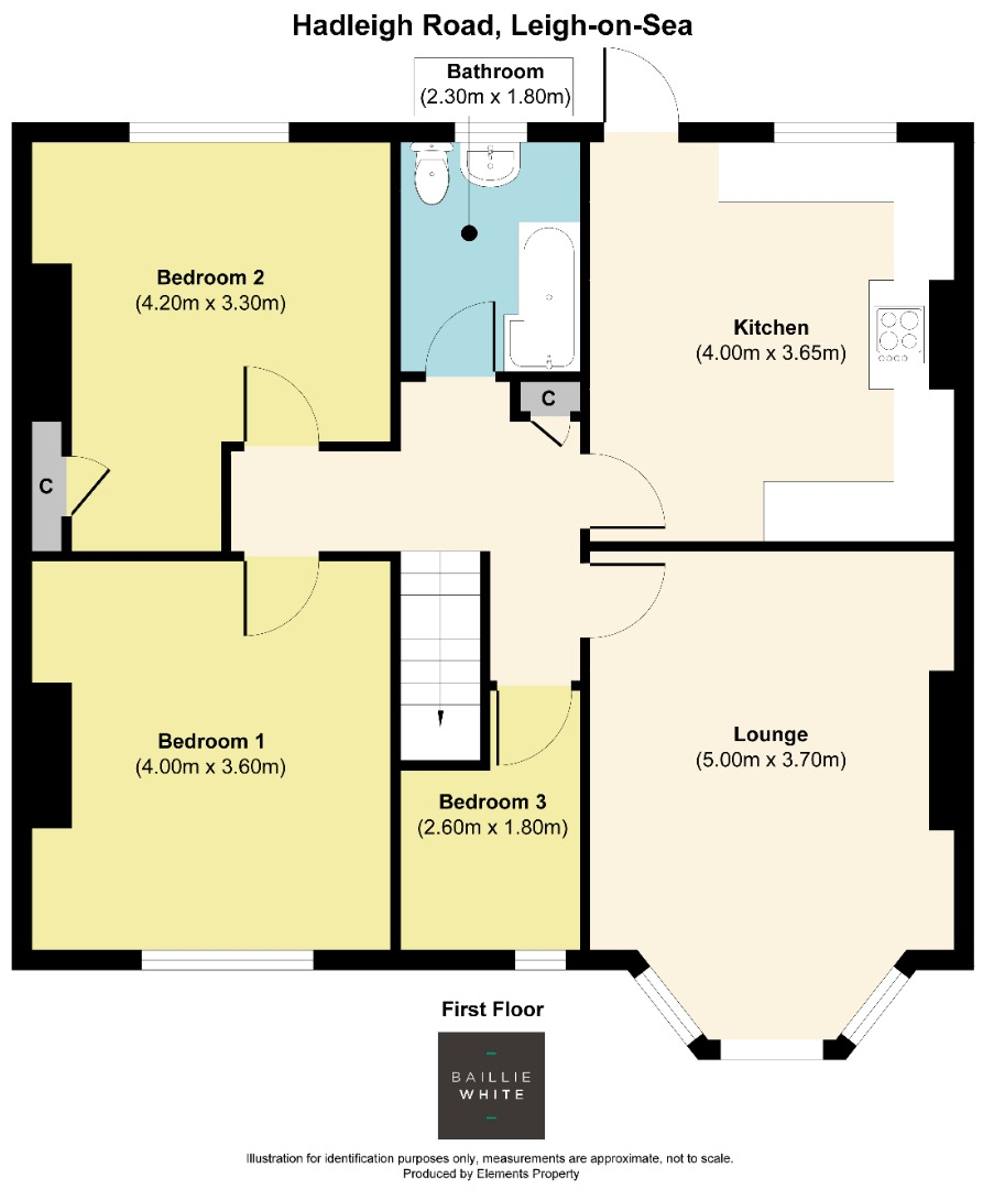 3 bed apartment to rent in Hadleigh Road, Leigh on Sea - Property Floorplan