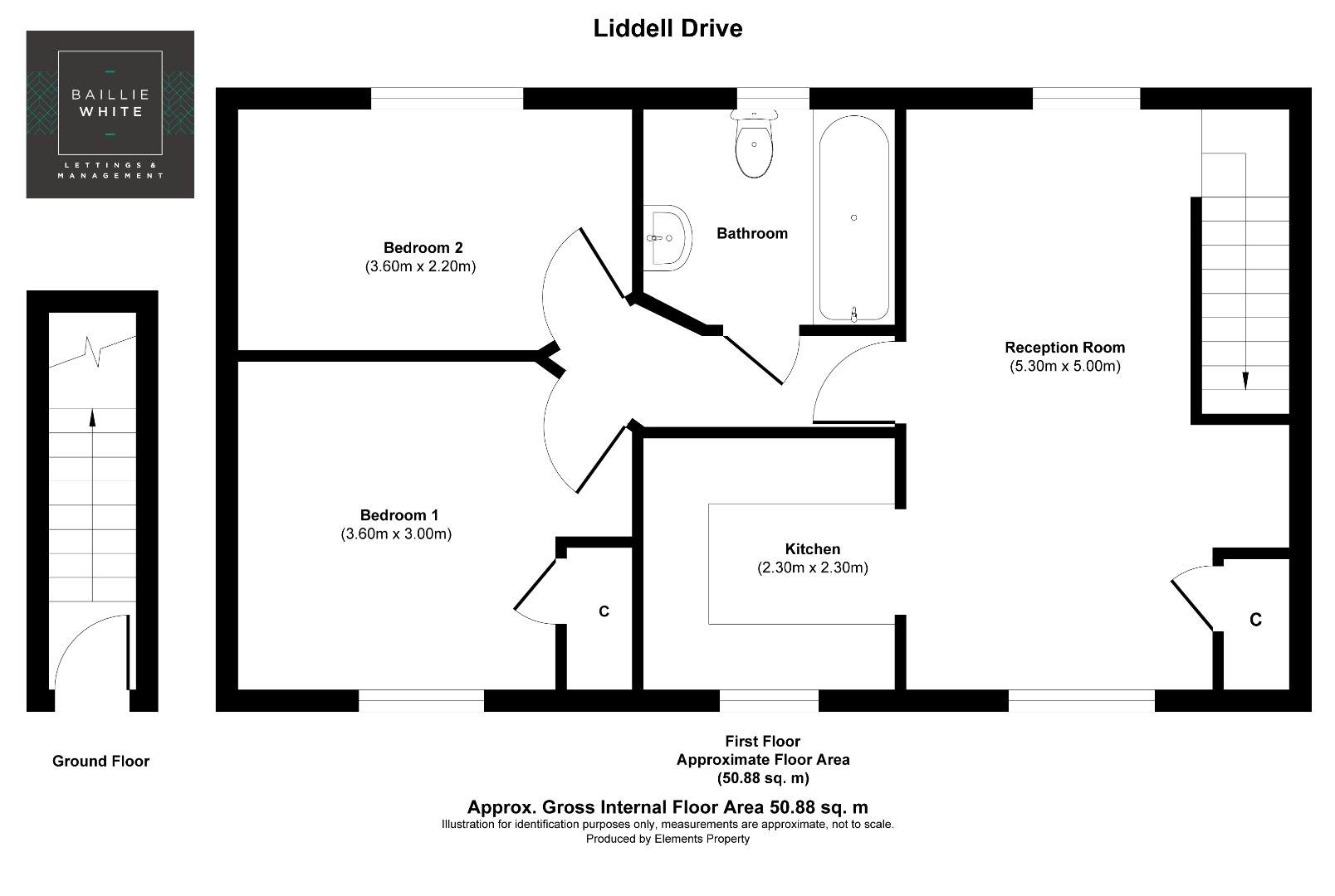 2 bed apartment to rent in Liddell Drive, Basildon SS14 - Property Floorplan