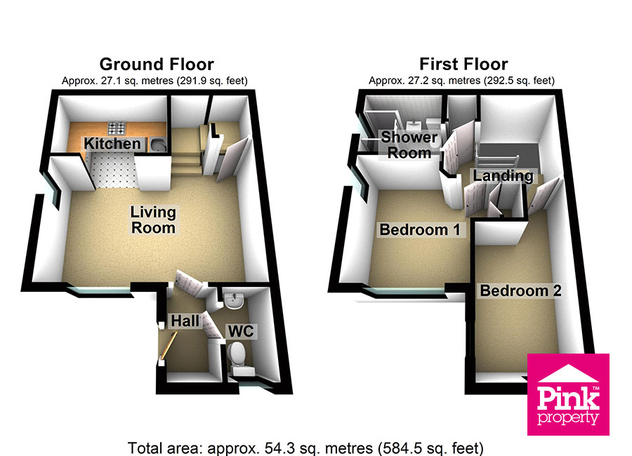 2 bed house for sale in Millias Close, Brough, HU15 - Property Floorplan